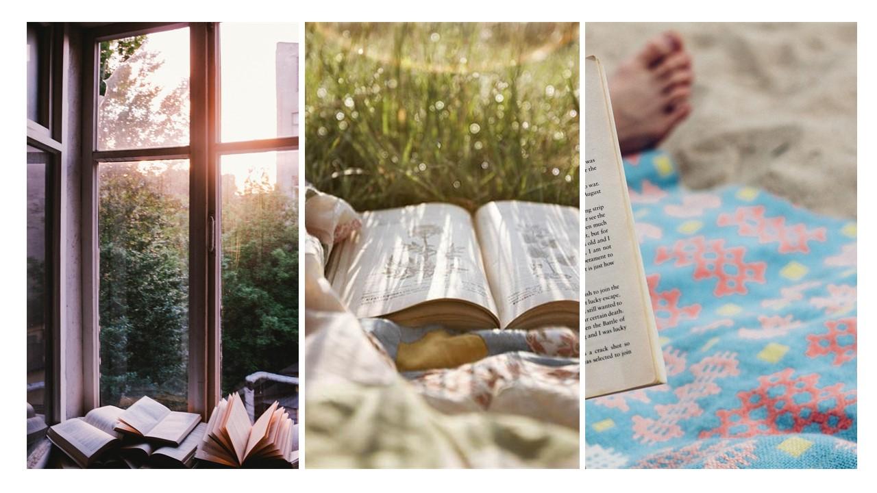 Verschillende sfeerfoto's van boeken en lezen