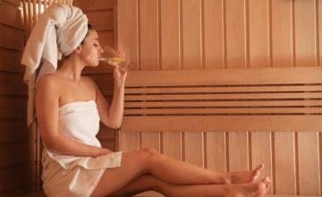 drinken in sauna